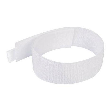 Silverline 675221 Hook & Loop Cable Ties 10pk 300mm White