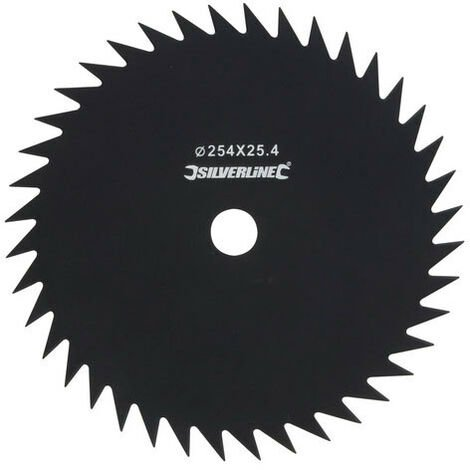 """main image of """"Silverline 675319 Brush Cutter Blade 40-Tooth 254mm / 10"""" Dia - 25.4mm / 1"""" Bore Dia"""""""
