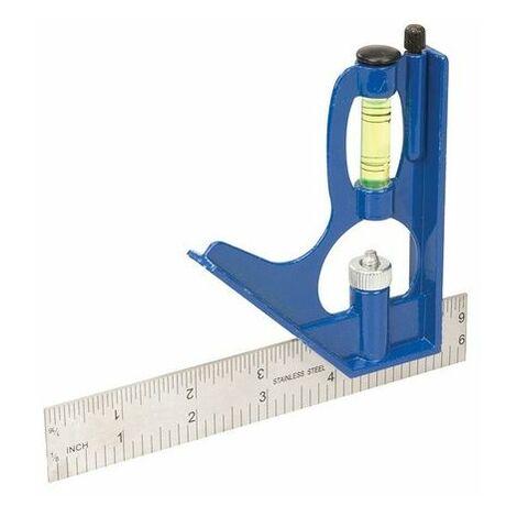 Silverline 745726 Combination Square 150mm
