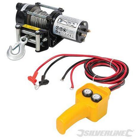 "main image of ""Silverline (748850) DIY 12V Electric Winch 2000lb"""