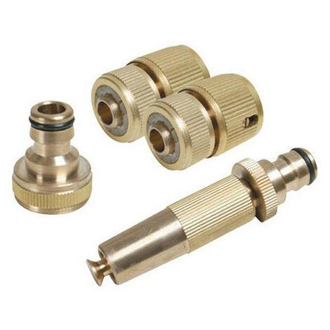 Silverline 793753 Fittings Set Brass 4pce 4pce
