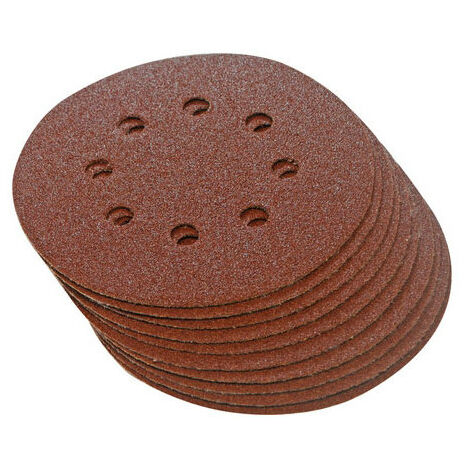 Silverline 822649 Hook & Loop Discs Punched 125mm 10pk 40 Grit