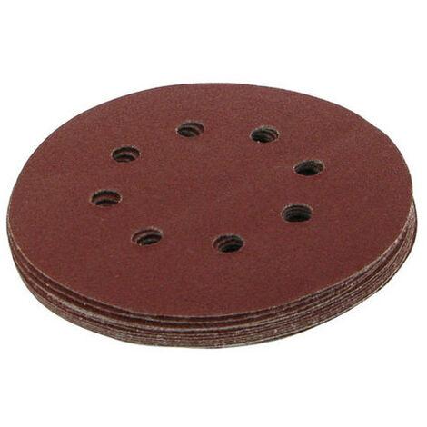 Silverline 822649 Hook & Loop Discs Punched 125mm 10pk 40 Grit