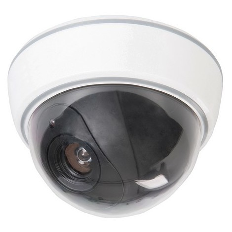 Silverline 828951 Dummy Security Dome Camera with LED 3 x AA