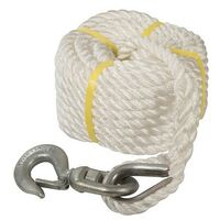 Silverline 865628 Gin Wheel Rope with Hook 20m