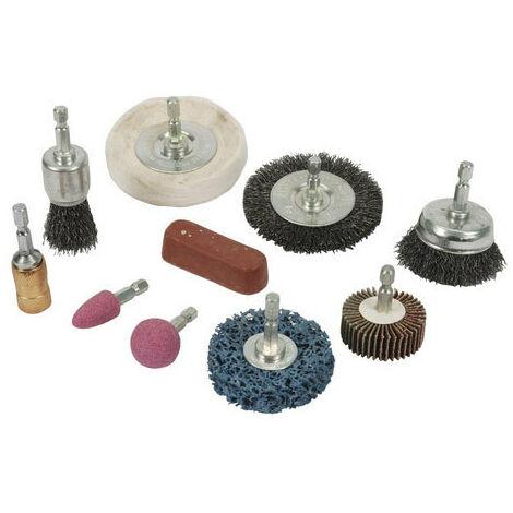Silverline 918557 Cleaning & Polishing Kit 10pce 6mm