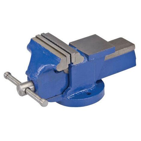 """Silverline 938601 Engineers Workshop Vice 100mm (4"""") Jaw Capacity 100mm / 5kg"""