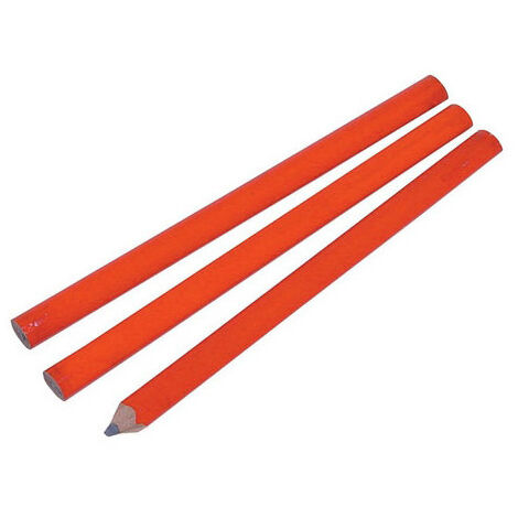 SILVERLINE CB81UB Carpenters Pencils 3pk 175mm