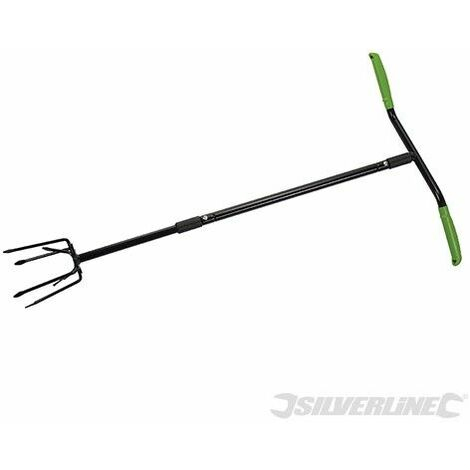 Silverline Cultivador Manual 950 Mm 6 Patas
