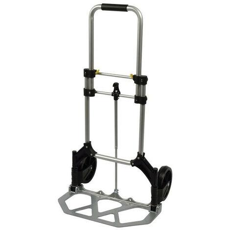 Silverline – Diable pliable plat, hauteur ajustable 90 Kg