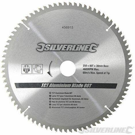 Silverline Disco Widia Aluminio 250*30 80 D