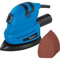 Silverline Electric Detail Mouse Palm Hand Sander With 11 Sanding Sheets 135w