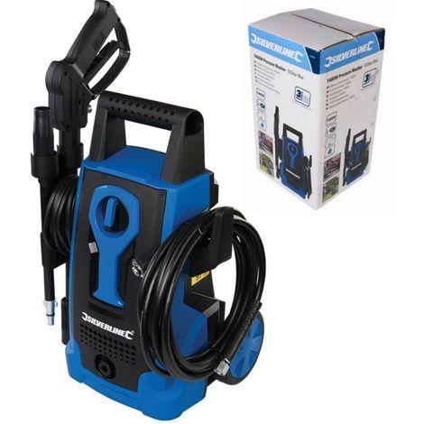 Silverline Electric Pressure Washer Power Jet Wash Garden Patio Home Car 1400W