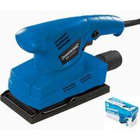 Silverline Flat Orbital Sander Electric Sanding Power Tool Machine 135W 521333