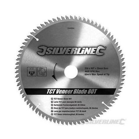 Silverline Lama per impiallacciature in TCT da 80 denti
