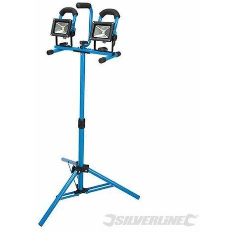 Silverline LED Tripod Site Light 2 x 10W UK 259306