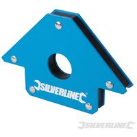 Silverline Magnete di Saldatura Squadra Magnetica da 100 mm 45°, 90° e 135°