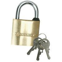 Silverline MSS01 Brass Padlock 20mm