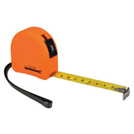 Silverline MT03 Hi-Vis Contour Tape 3m x 16mm