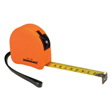 Silverline MT05 Hi-Vis Contour Tape 5m x 19mm