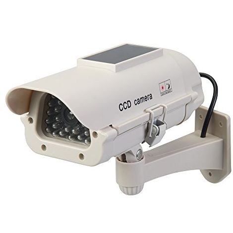 Silverline Solar-Powered Dummy CCTV Camera with LED