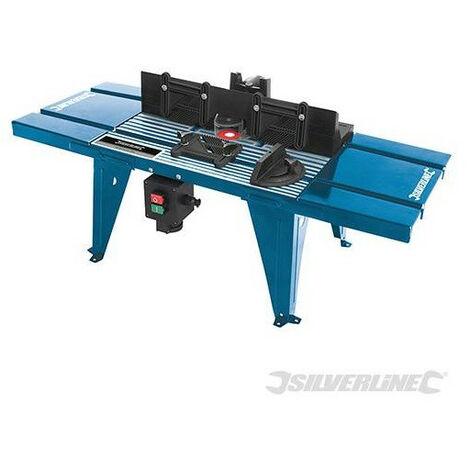 Silverline - Table de défonceuse avec rapporteur 850 x 330 mm - TNT