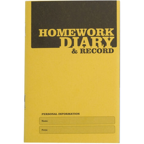 Silvine EX205 A6 Homework Diary Pack of 20