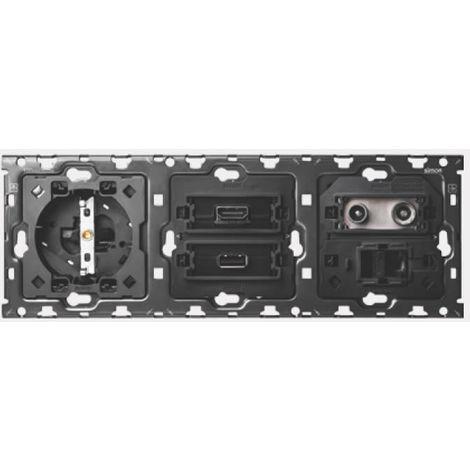 SIMON 100 - Kit 3 elem base + HDMI + USB + TV + RJ45 10010304-039