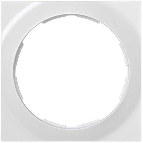 Simon 88 | Marco 1 elemento cuadrado blanco 85x85 SIMON 88612-30