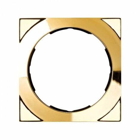 Simon 88 | Marco 1 elemento cuadrado oro 85x85 SIMON 88612-36
