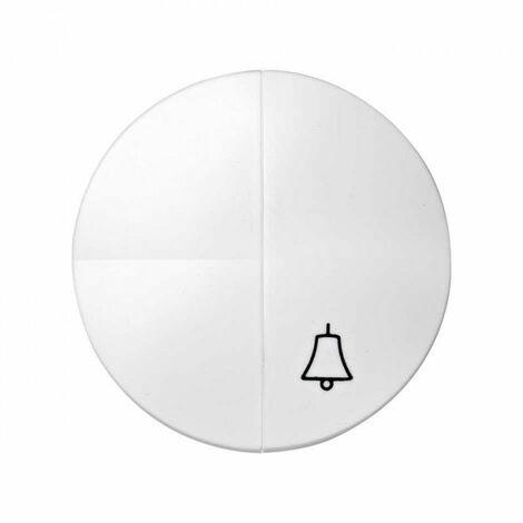 Simon 88 | Tecla para 1 int. + 1 puls. campana BLANCO SIMON 88027-30