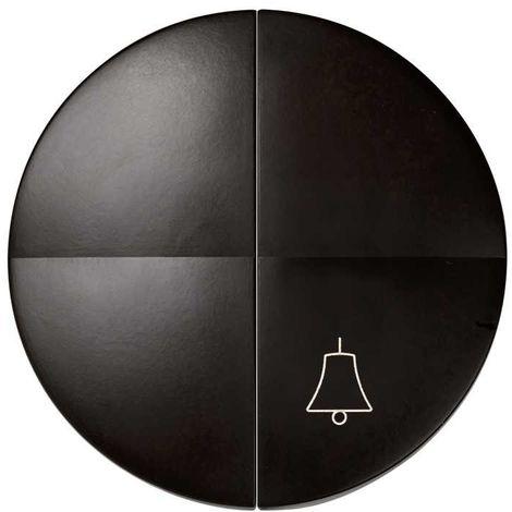 Simon 88 | Tecla para 1 int. + 1 puls. campana MARRON SIMON 88027-32