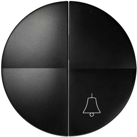 Simon 88   Teclas grupo conmutador+pulsador campana GRAFITO SIMON 88027-38