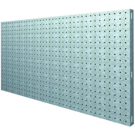 Panneau métallique galvanisé 120x40x3,5cm kgs par niveau