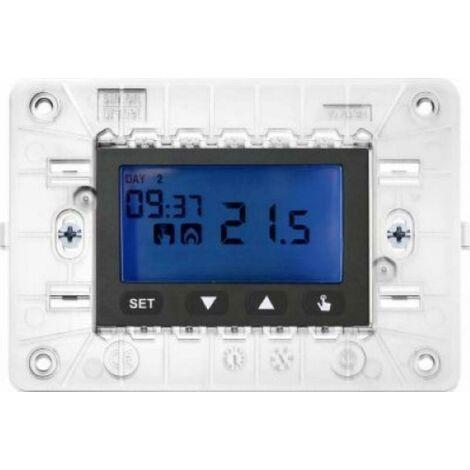 SIMON URMET NEA CRONOTERMOSTATO ELETTRONICO DIGITALE LCD 3 MODULI ANTRACITE 10633