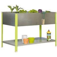 SimonRack - Jardinière galva/vert 140L avec étagère - UrbanGarden Top 850x900x600 Galva