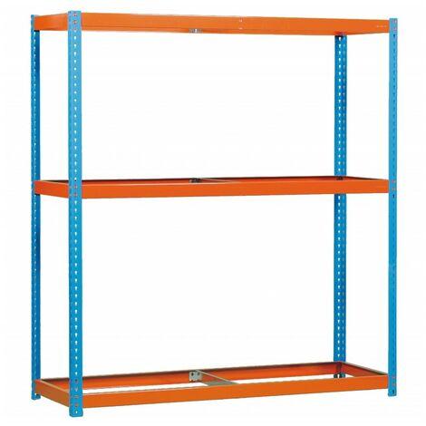 Simonrack - Kit ecoforte 3 estantes azul - naranja