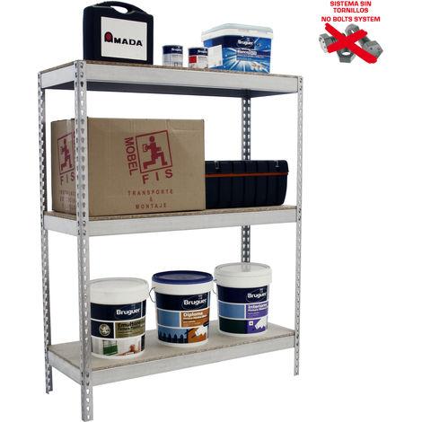 Simonrack - Kit ecoforte 3 estantes chipboard galvanizado - madera