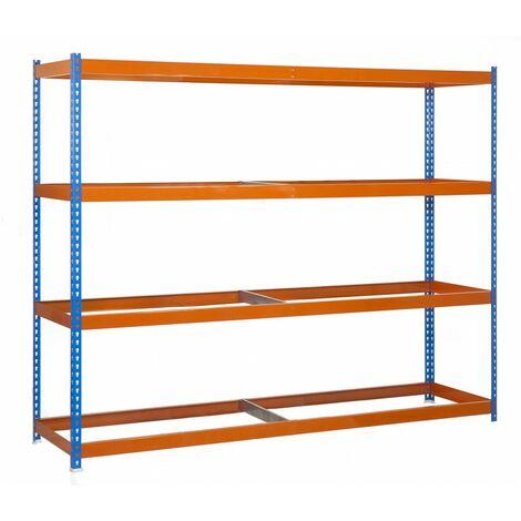 Simonrack - Kit ecoforte 4 estantes azul - naranja