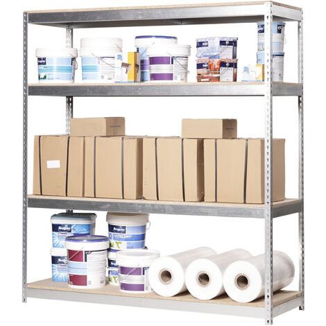 Simonrack - Kit ecoforte 4 estantes chipboard galvanizado - madera