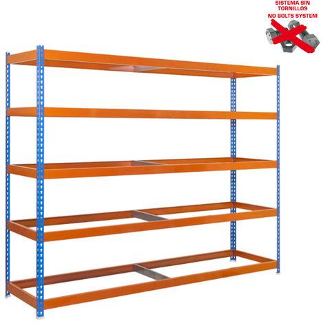 Simonrack - Kit ecoforte 5 estantes azul - naranja
