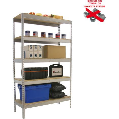 Simonrack - Kit ecoforte 5 estantes chipboard galvanizado - madera