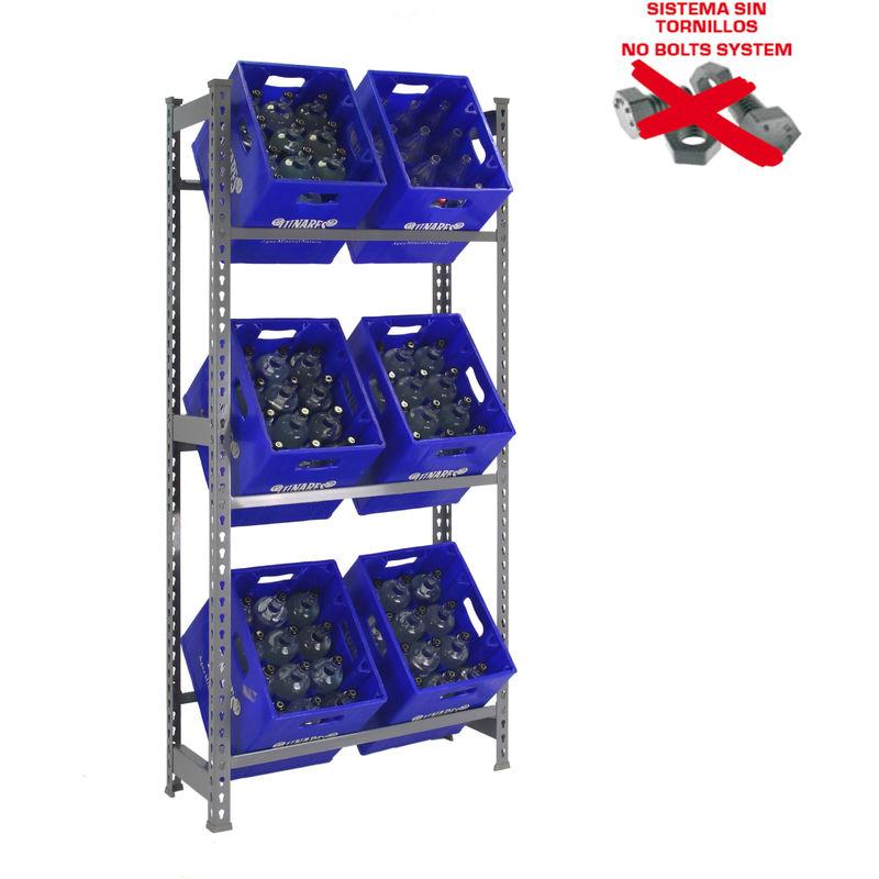 Cargas pesadas estante rojo alta carga estante 875 kg apilable estante para sótano estante para cargas