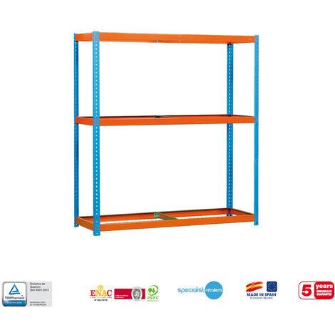 Simonrack - Kit simonforte 3 estantes azul - naranja