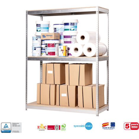 Simonrack - Kit simonforte 3 estantes chipboard galvanizado - madera