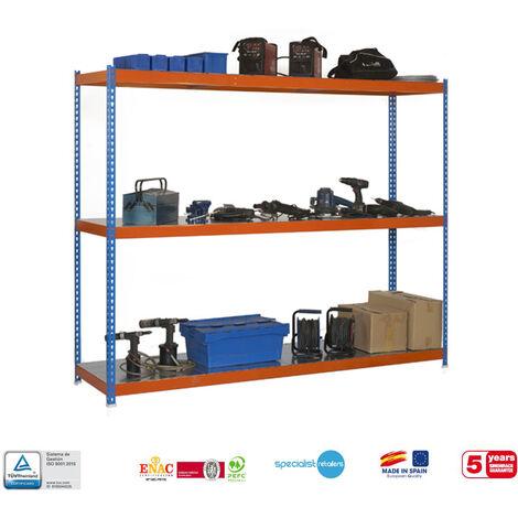 Simonrack - Kit simonforte 3 estantes metal azul - naranja - galvanizado