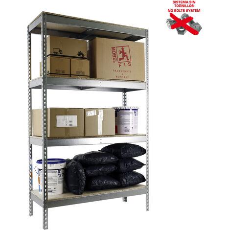 Simonrack - Kit simonforte 4 estantes chipboard galvanizado - madera
