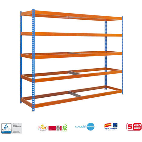 Simonrack - Kit simonforte 5 estantes azul - naranja