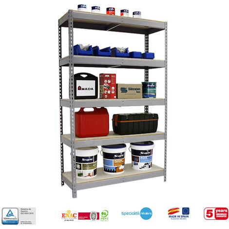 Simonrack - Kit simonforte 5 estantes chipboard galvanizado - madera
