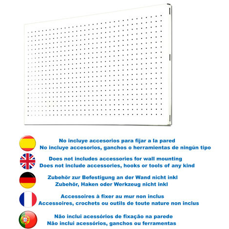 Simonrack - Panel perforado blanco